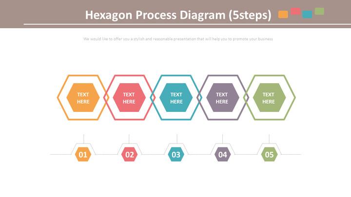 육각형 프로세스 다이어그램 (5 단계)_01
