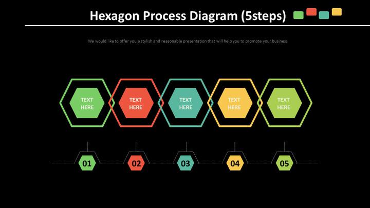 육각형 프로세스 다이어그램 (5 단계)_02