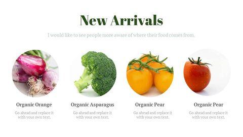 신선한 마트, 유기농, 신선한 음식, 농장 상점 테마 Google 슬라이드_02