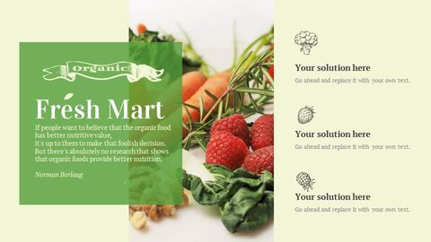 신선한 마트, 유기농, 신선한 음식, 농장 상점 테마 Google 슬라이드_04