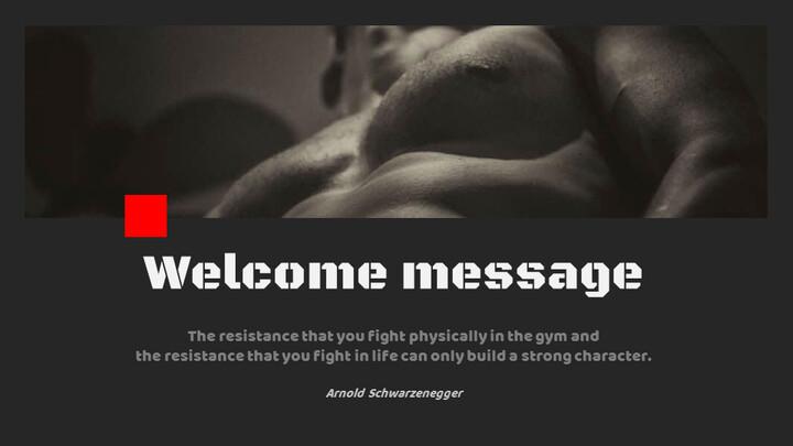 체육관과 피트니스 프레젠테이션용 Google 슬라이드 테마_02