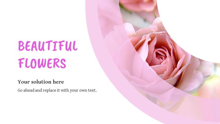 핑크 플라워 Google 슬라이드 프레젠테이션 템플릿_02