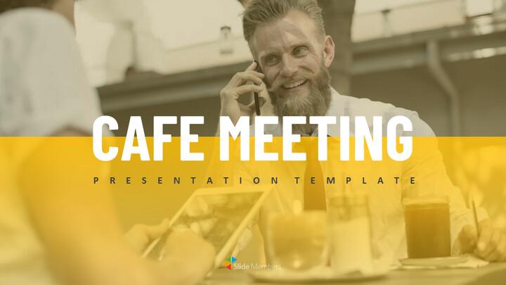 카페 회의 심플한 Google 슬라이드 템플릿_01