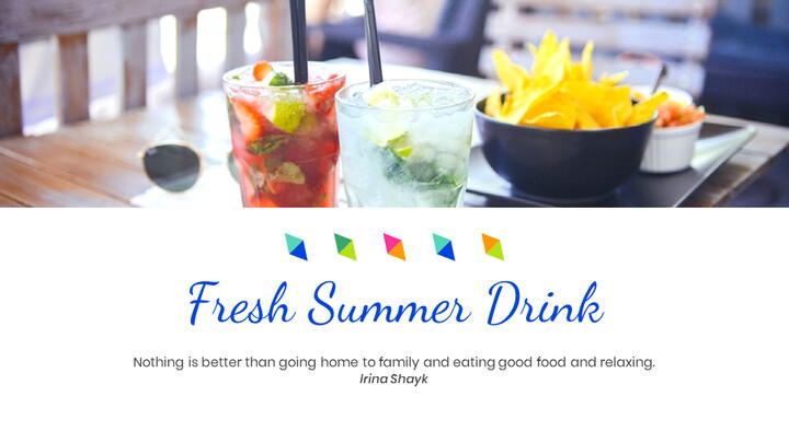 여름 음료 Google 프레젠테이션 슬라이드_02
