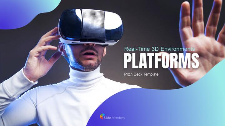 3D 플랫폼 피치덱 테마 Google 슬라이드_01