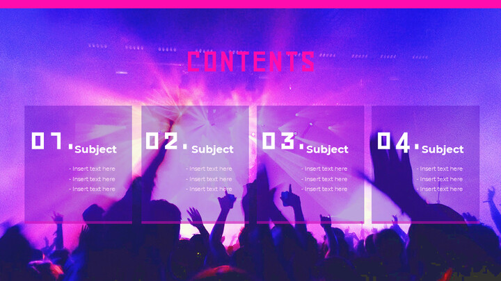 음악 축제 Google 슬라이드 프레젠테이션 템플릿_02