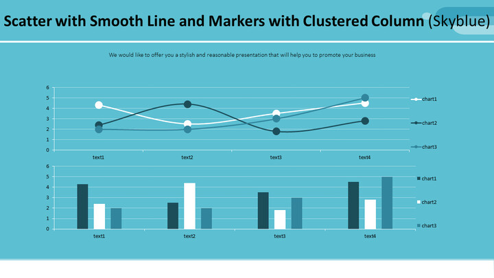 Scatter with Smooth Line and Markers with Clustered Column (Skyblue)_01