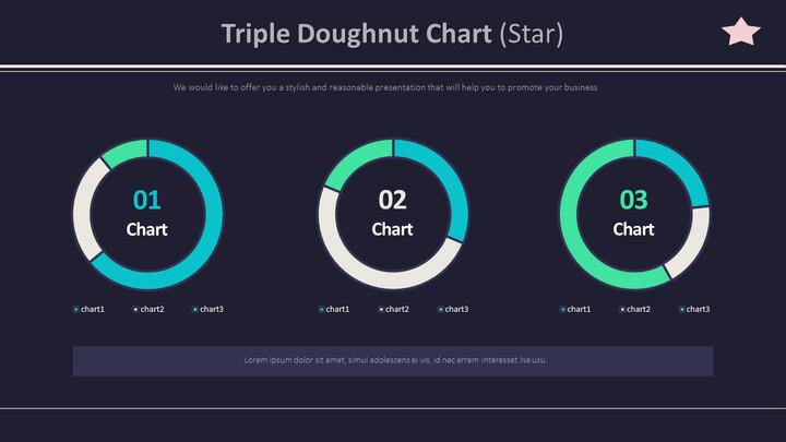 Triple Doughnut Chart (Star)_01