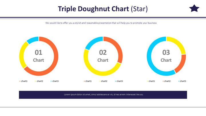 Triple Doughnut Chart (Star)_02