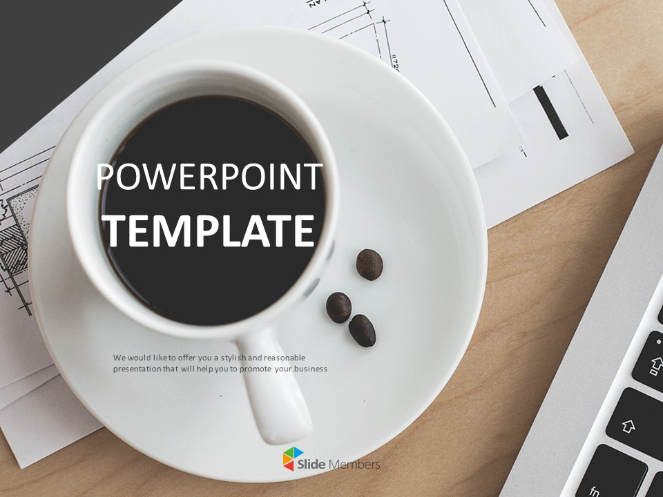 Coffee On The Table Free Powerpoint Templates Design