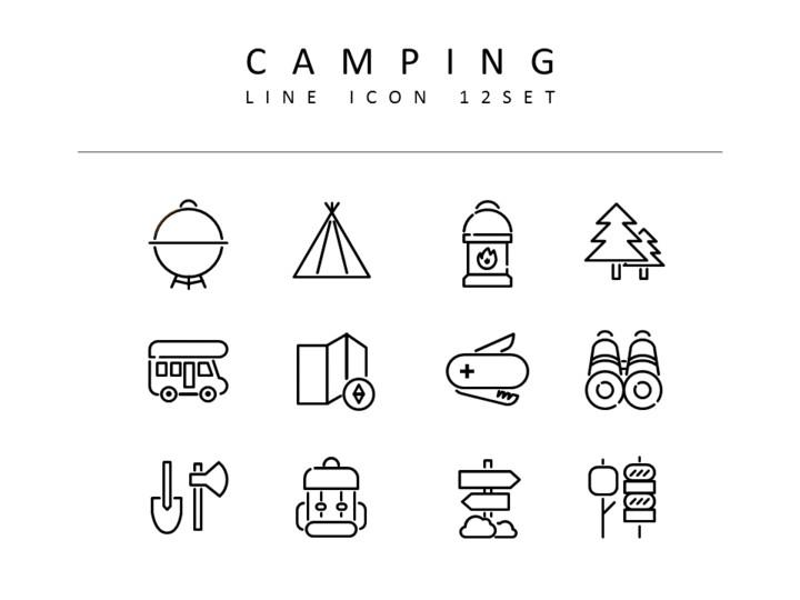 캠핑 벡터 아이콘 세트_01