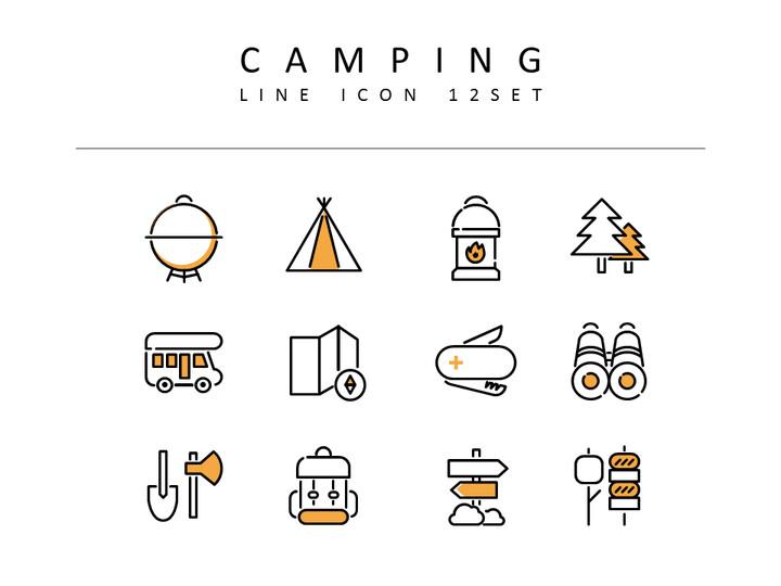 캠핑 벡터 아이콘 세트_02