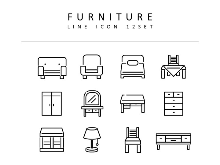 Furniture Vector Icons_01