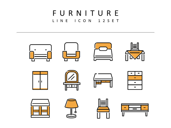 Furniture Vector Icons_02