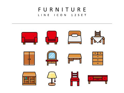 Furniture Vector Icons_03
