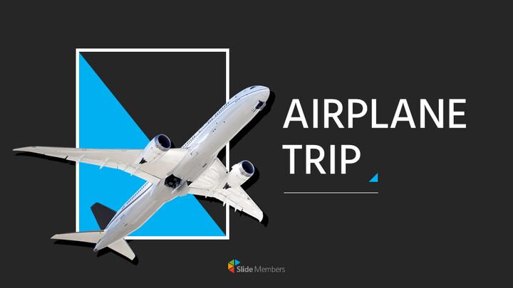 비행기 여행 프레젠테이션용 Google 슬라이드_01