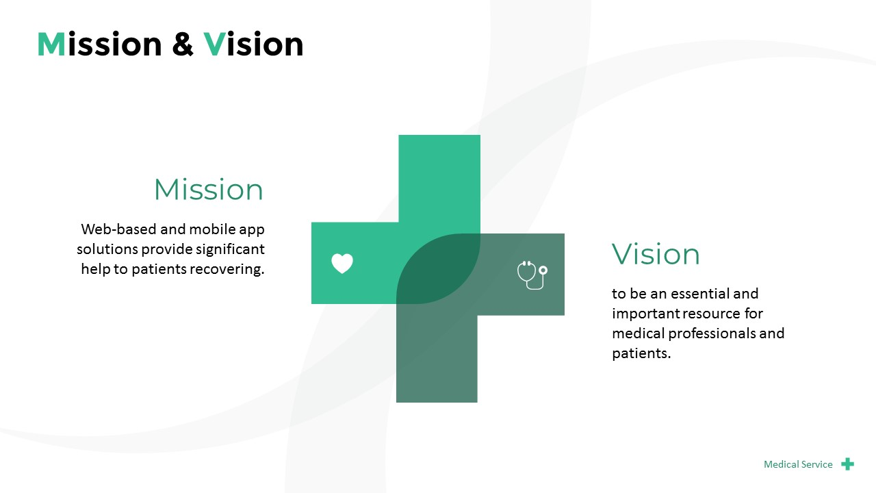 Medical Service Pitch Deck Powerpoint Templates