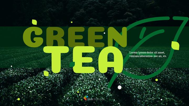 Green Tea Google Slides Template Diagrams Design_01