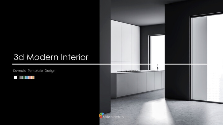 3d Modern Interior Simple Keynote Template_01
