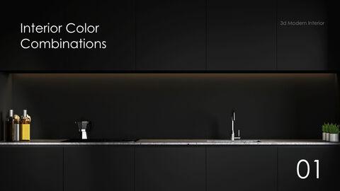 3d Modern Interior Simple Keynote Template_03