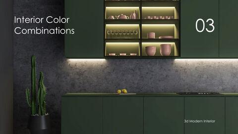 3d Modern Interior Simple Keynote Template_16