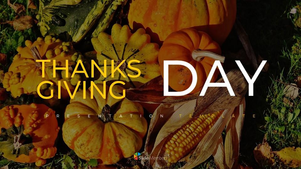Thanksgiving Day Simple Presentation Google Slides Template
