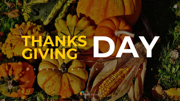 Thanksgiving day Simple Presentation Google Slides Template_01