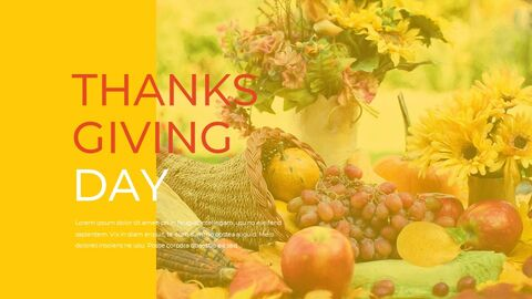 Thanksgiving day Simple Presentation Google Slides Template_12