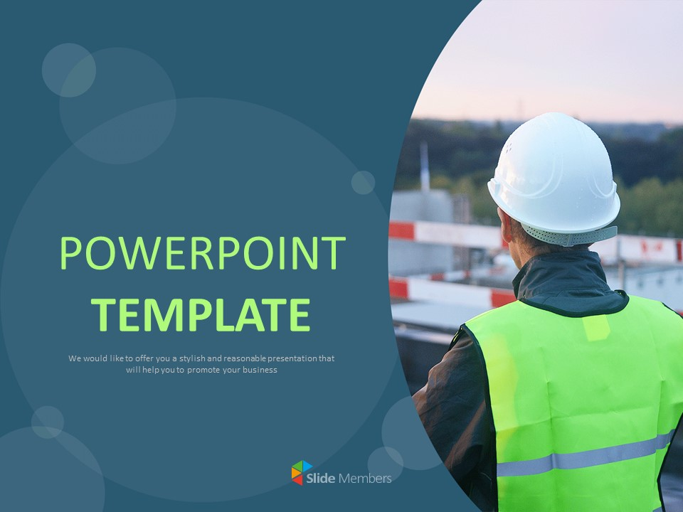 Construction Workers Google Slides Templates Free Download