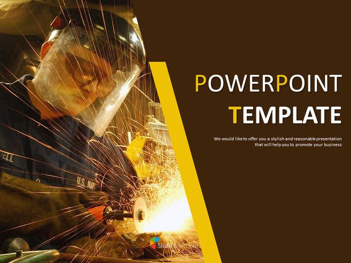 무료 비즈니스 구글 슬라이드 템플릿 - 철 산업_01