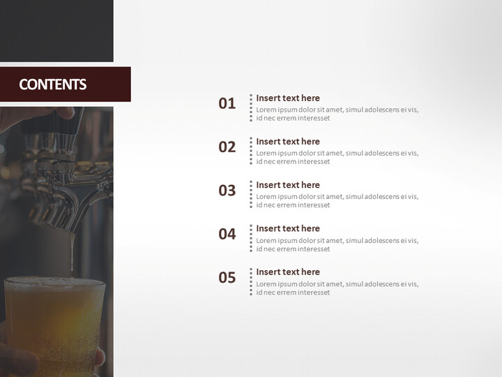 A <span class=\'highlight\'>Glass</span> of Cold Beer - Free Presentation Templates_02