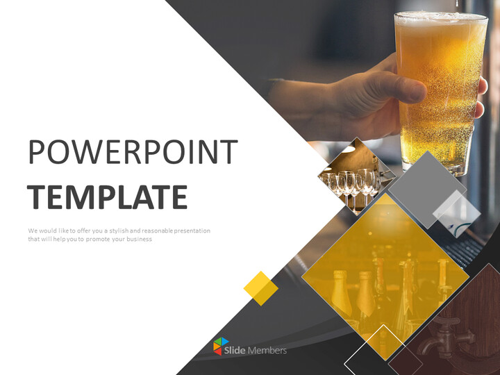 A <span class=\'highlight\'>Glass</span> of Cold Beer - Free Presentation Templates_01