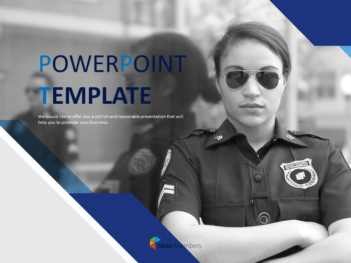 Free Business Google Slides Templates - Female Police Officer_01