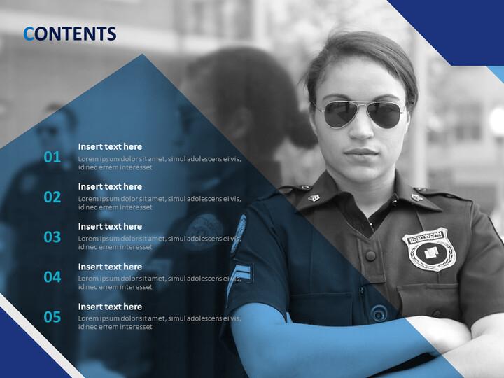 Free Business Google Slides Templates - Female Police Officer_02