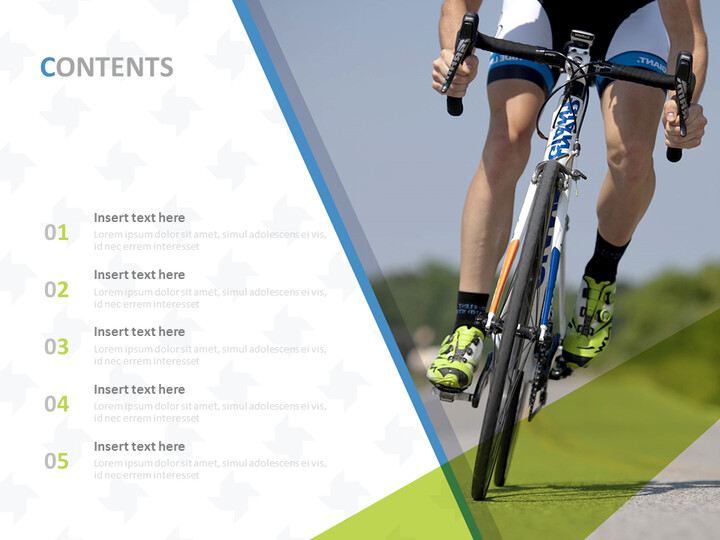 Professional Cyclist - Google Slides Template Free Download_02