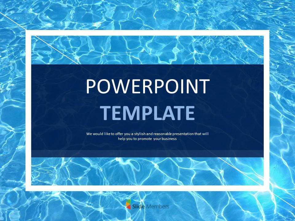 Refreshing Swim Google Slides Template Free Download