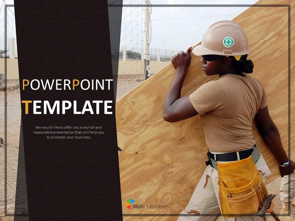 Safety Public Work Google Slides Template Free Download