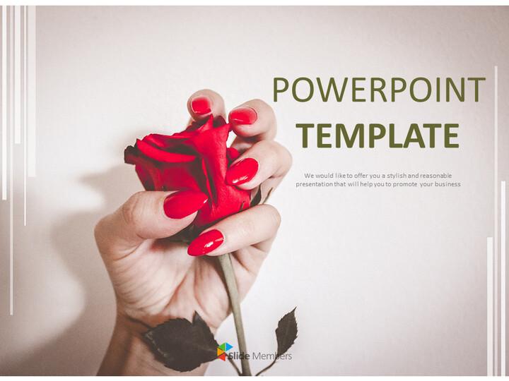 무료 구글 슬라이드 템플릿 디자인 - 매니큐어와 꽃_01
