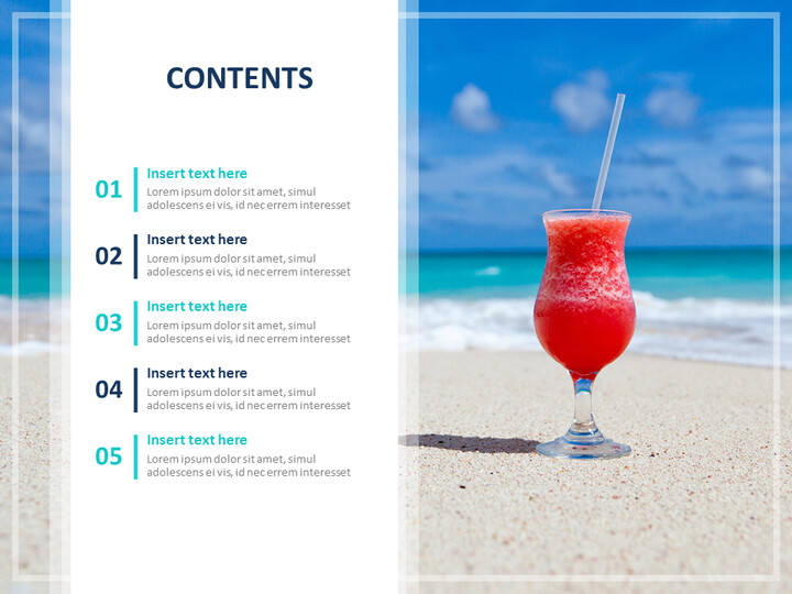 Google 슬라이드 무료 다운로드 - 여름 해변과 칵테일_02