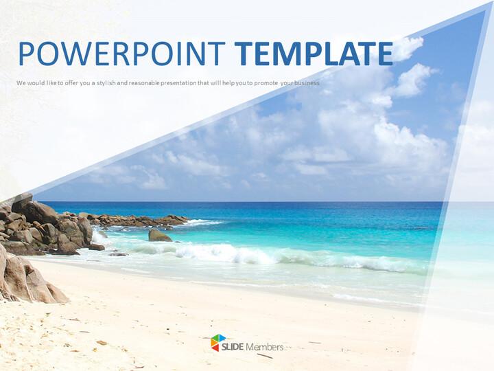 Google 슬라이드 이미지 무료 다운로드 - 멋진 해변_01