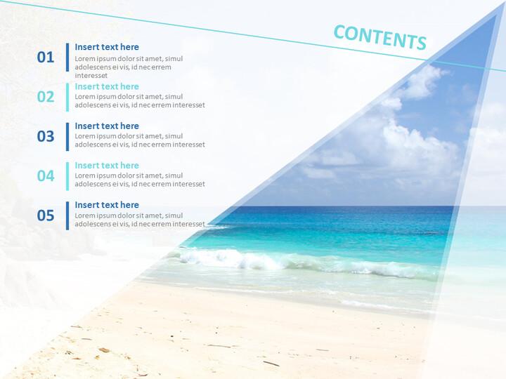 Google 슬라이드 이미지 무료 다운로드 - 멋진 해변_02
