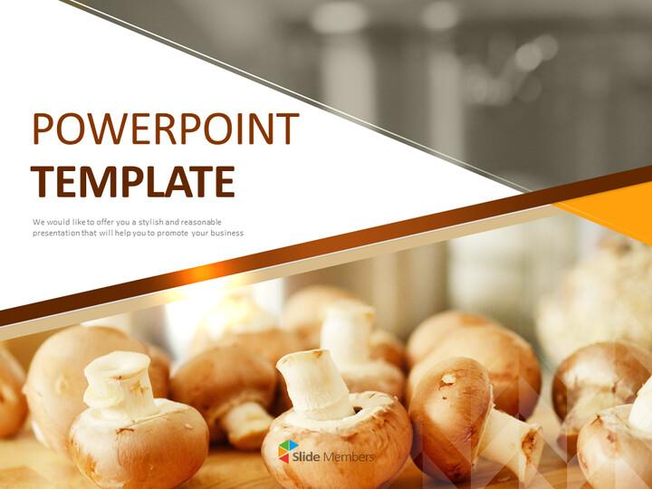 Google 슬라이드 이미지 무료 다운로드 - 신선한 버섯_01