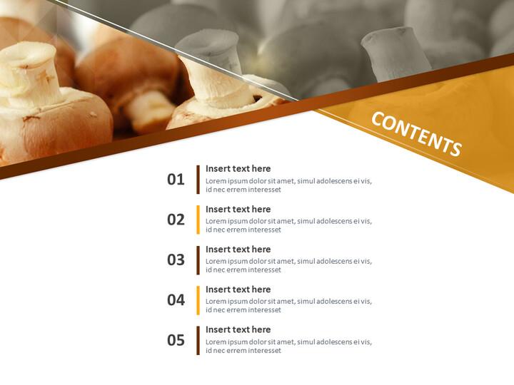 Google 슬라이드 이미지 무료 다운로드 - 신선한 버섯_02