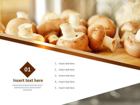Google 슬라이드 이미지 무료 다운로드 - 신선한 버섯_03
