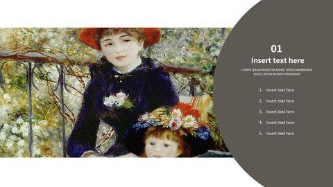 """Google 슬라이드 이미지 무료 다운로드 - 피에르 오귀스트 르누아르 \""""두 자매\""""_03"""