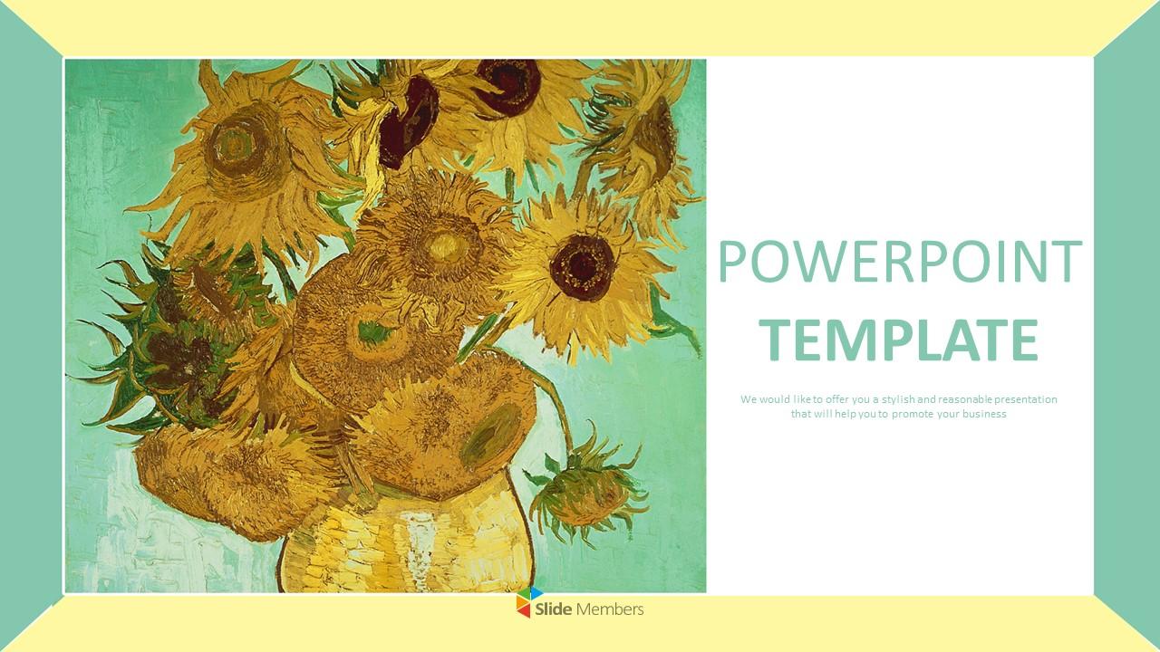 Google Slides Templates Free Download Vincent Van Gogh