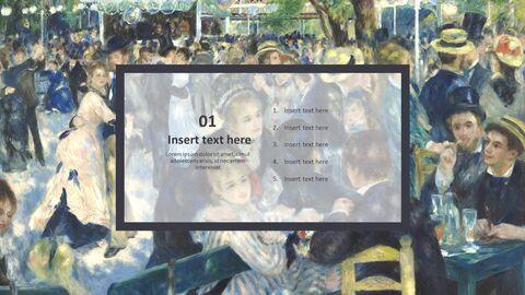"""Pierre-auguste Renoir \""""발 뒤 물랭 데 라 갈레트, 몽마르트르\"""" - 구글슬라이드용 무료 이미지_03"""