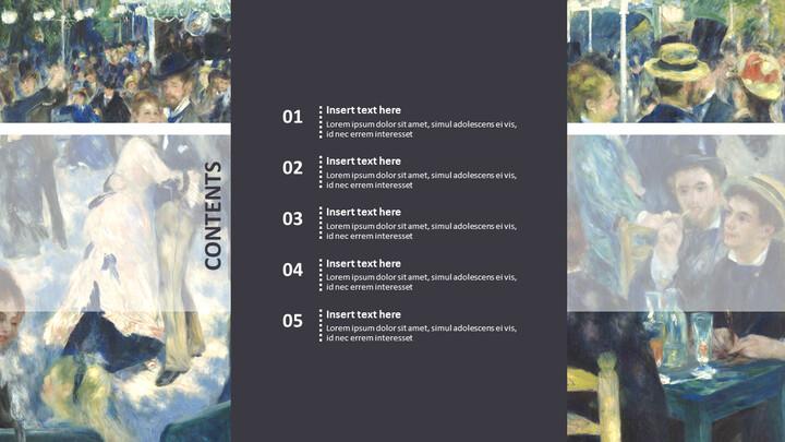 """Pierre-auguste Renoir \""""발 뒤 물랭 데 라 갈레트, 몽마르트르\"""" - 구글슬라이드용 무료 이미지_02"""