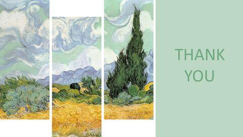 "Vincent Van Gogh \""사이프러스를 가진 밀밭\"" - 무료 프리젠테이션 템플릿_06"