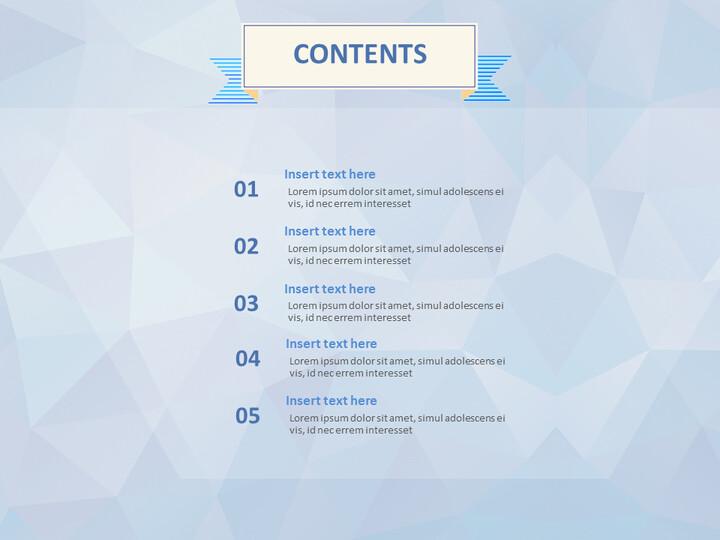 Google 슬라이드 무료 다운로드 - 삼각형 패턴 배경으로 보라색 보석_02